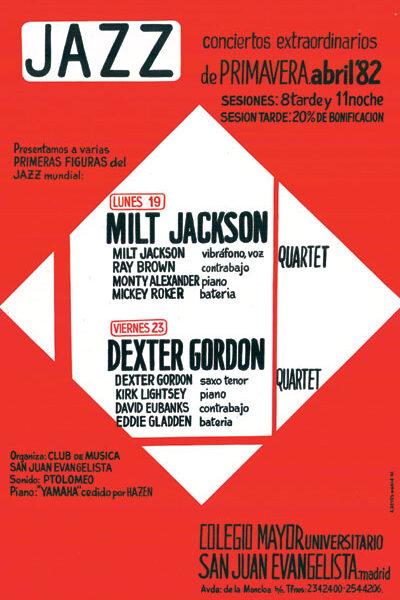 Cartel Concierto Dexter Gordon