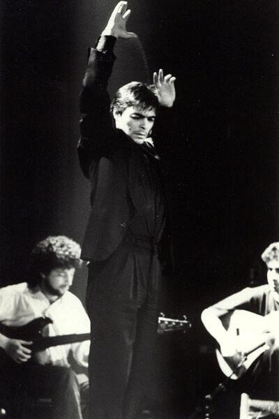 Antonio Canales bailando en el Johnny