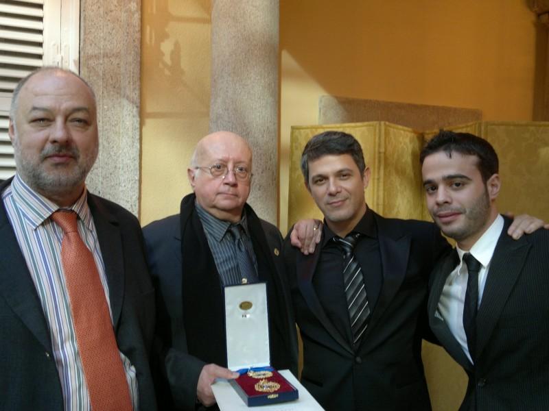 Acto Medalla de Oro a las Bellas Artes para el Club de Música del San Juan con Alejandro Sanz