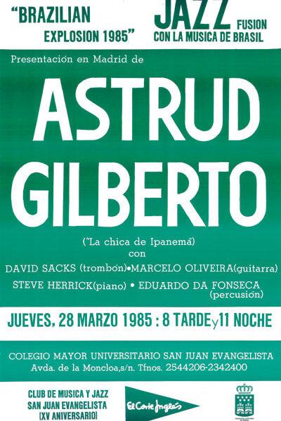 Cartel Concierto Astrud Gilberto